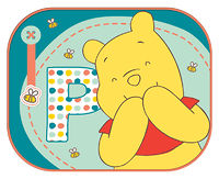 Экран солнцезащитный Winnie the Pooh на боковые окна автомобиля (2шт)