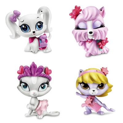 Игровой набор из 4 Зверюшек с аксессуарами Littlest Pet Shop