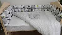 Комплект в кроватку 120*60 Joy (6 ед) БОМБОН серый (защита из 6 ед)