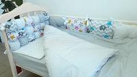 Комплект в кроватку 120*60 Joy (6 ед) Комбинированный (защита из 10 ед)