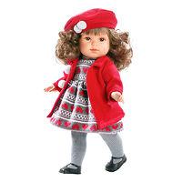 Кукла Лаура виниловая в красном 45 см коллекционная