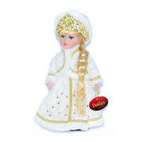 Кукла фарфоровая Снегурочка в белом 30 см