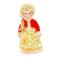 Кукла фарфоровая Снегурочка в красном 30 см