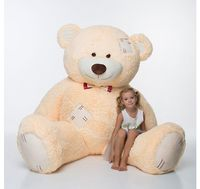 Мистер Медведь с латками 250 см Бежевый