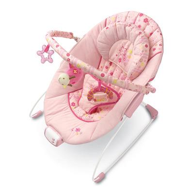 Музыкальное кресло-качалка розовое