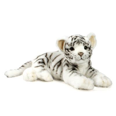 Мягкая игрушка Белый тигр лежачий 36 см