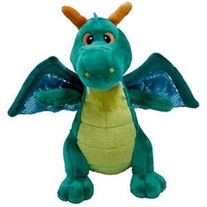 Мягкая игрушка Дракон Зеленый 14 см