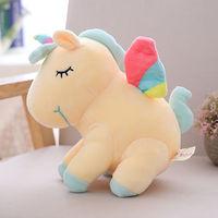 Мягкая игрушка Единорог Rainbow Yellow