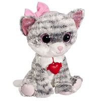 Мягкая игрушка Глазастик Кошечка с бантиком и кулоном 22 см