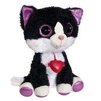 Мягкая игрушка Глазастик Котик с кулоном 22 см