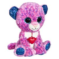 Мягкая игрушка Глазастик Леопард с кулоном 22 см