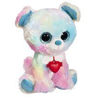 Мягкая игрушка Глазастик Радужная Собачка с кулоном 22 см