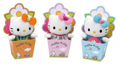Мягкая игрушка Hello Kitty 12 см в цветочном горшочке