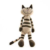 Мягкая игрушка Кот полосатый 30 см