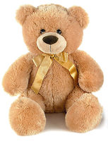 Игрушка медовый плюшевый медведь 40 см