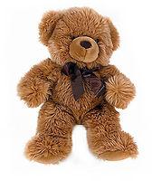 Мягкий медведь коричневый 30 см