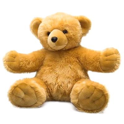 Мягкая игрушка Мишка - обними меня 30 см коричневый