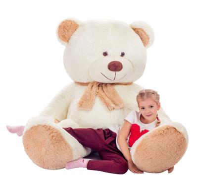 Мягкая игрушка Мистер Медведь кремовый 190см