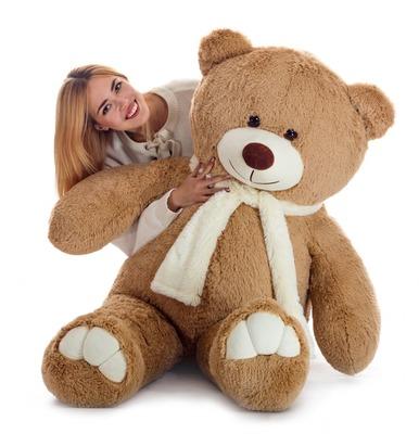 Мягкая игрушка Мистер Медведь латте 160см
