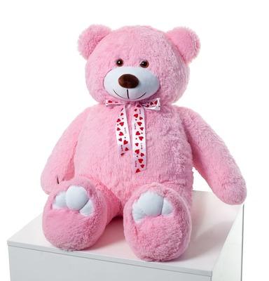 Мягкая игрушка Мистер Медведь розовый 110см