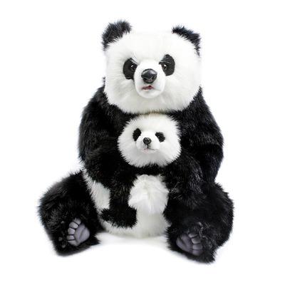 Мягкая игрушка Панда с младенцем 75 см
