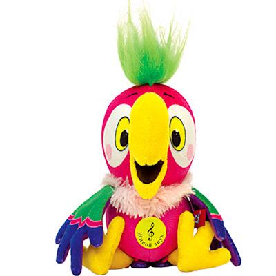 Мягкая игрушка Попугай Кеша музыкальный 22 см