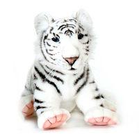 Мягкая игрушка Тигренок белый сидящий 38 см