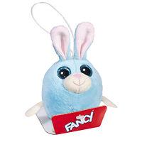 Мягкая игрушка-брелок Глазастик Зайка 8 см