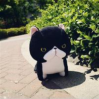 Мягкая игрушка черный котёнок