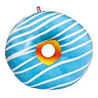 """Мягкая игрушка подушка Пончик """"Бело-голубая глазурь"""" 43 см"""