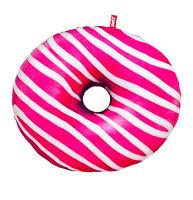 """Мягкая игрушка подушка Пончик """"Бело-розовая глазурь"""" 43 см"""
