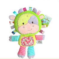Мягкая игрушка-погремушка Коровка