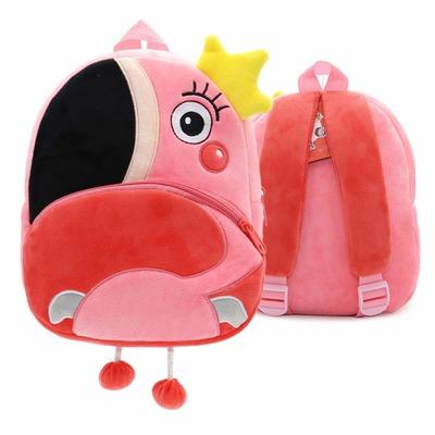 Мягкая игрушка-рюкзак Фламинго