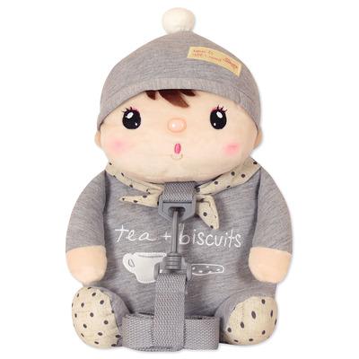 Мягкая игрушка-рюкзак пупс Сластена Gray