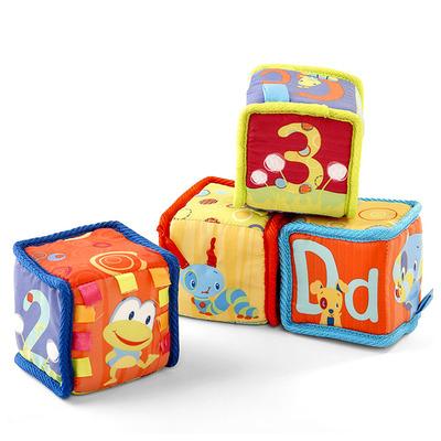 Мягкие развивающие кубики