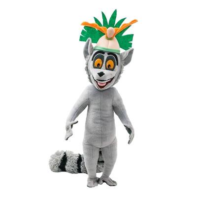 Пингвины из Мадагаскара - мягкая игрушка лемур Король Джулиан 50 см