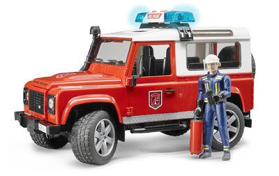 Пожарный джип Land Rover Defender 1:16 с фигуркой