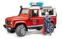 Пожарный Land Rover Defender 1:16 + фигурка
