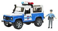 Полицейский Land Rover Defender 1:16 + фигурка