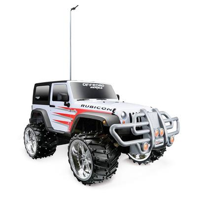 Игрушка Jeep Wrangler Rubicon (1:16) бело-красный - радиоуправляемая модель