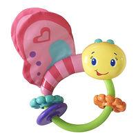 Развивающая игрушка-погремушка Розовая бабочка