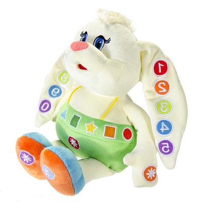 Развивающая музыкальная мягкая игрушка Зайка-Знайка